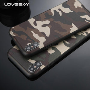Leger army telefoonhoesje - Siliconen - iPhone 6 6S - 7 8 Plus - iPhone 10 X KoopjesAap