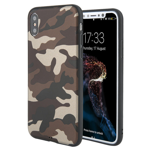 Leger army telefoonhoesje - Siliconen - iPhone 6 6S - 7 8 Plus - iPhone 10 X