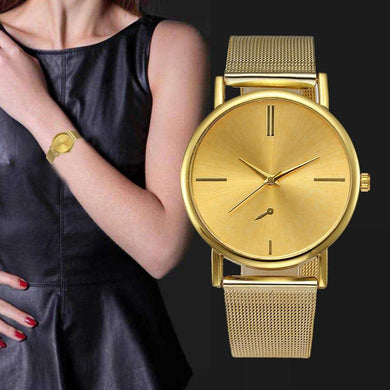 Dameshorloge - Horloges voor vrouwen - Rose goud - Goud - Quartz - RVS band - Horloges - Sale KoopjesAap