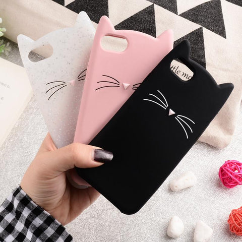 Katten hoesje iPhone  5 5S SE - 6 6S - 6Plus - 7 - 7Plus