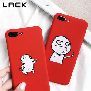 Grappige cartoon hoesje - iPhone 6 6S - 6Plus - 7 - 7Plus- 8 - 8Plus - 10 X KoopjesAap