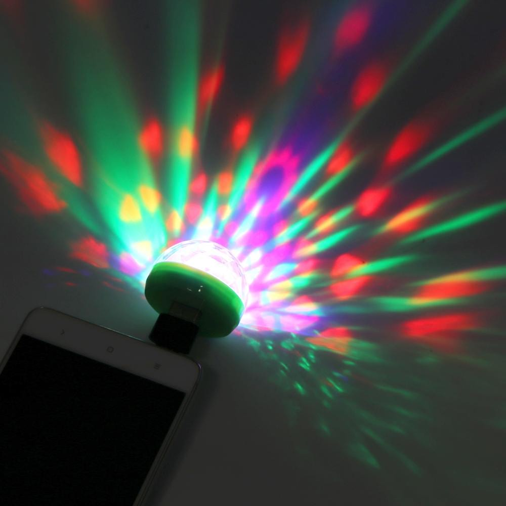 Mini 4 LED Disco lamp - USB oplaadbaar - RGB - Roterend