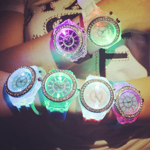Light fashion kinderhorloge - Schitterende LED lampjes