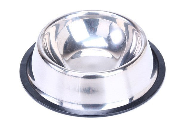 Lekexi Stainless Steel Pets Dog Bowl Travel Food Bowls For Cats Dogs Pink Outdoor Drinking Water Pet Dog Dish Feeder Tableware