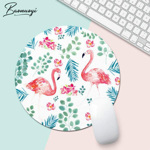 Flamingo muismat - Rond - Computermuis