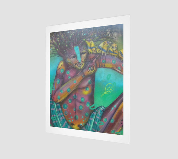 Watercolor Wall-Art  Print - Baba Faraka