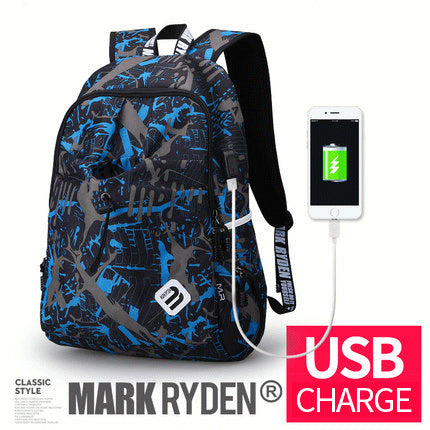 USB Charging  Waterproof Quality Brand Laptop Backpack
