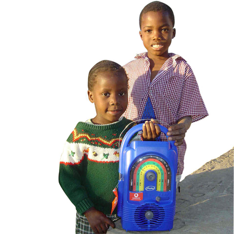 Give a gift that matters: a donation in your friend's name. The sturdy solar powered, wind-up Lifeline radio you will give will provide children with sustained