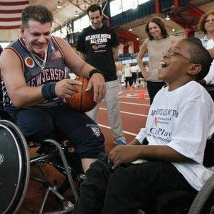 Give a gift that matters: a donation in your friend's name. By donating $50, you allow us to purchase a set of basketballs for our Wheelchair Basketball Clinic