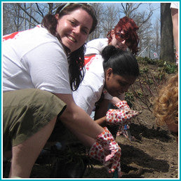 Give a gift that matters: a donation in your friend's name. Provide gloves for a team of volunteers to protect them while weeding, planting, mulching, removing