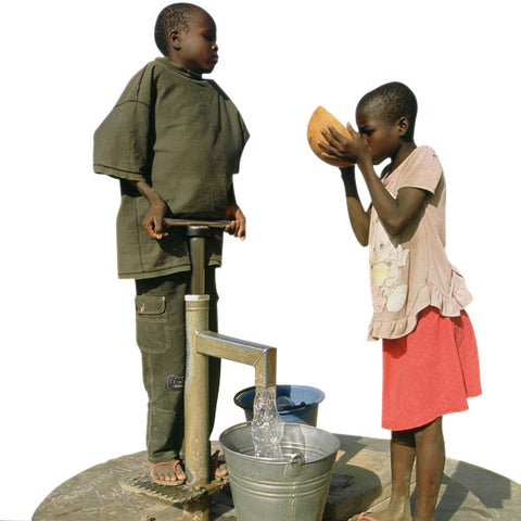 Give a gift that matters: a donation in your friend's name.  For families in developing countries, drawing water up through the gift of a new handpump protects