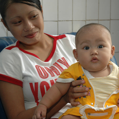 Give a gift that matters: a donation in your friend's name. In Jakarta's poorest neighborhoods, Mercy Corps promotes the practice and benefits of breastfeeding.