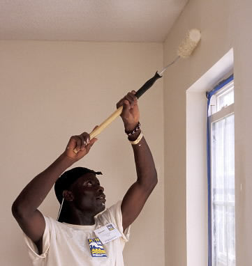 Give a gift that matters: a donation in your friend's name. This gift will provide paint for the interior of a home.  The cost of a home is great.  However, thr