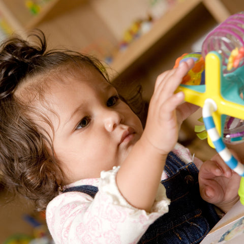 Give a gift that matters: a donation in your friend's name. this gift will provide developmental toys that build strong motor skills and cognitive abilities in