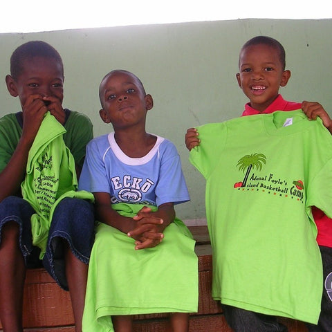 Give a gift that matters: a donation in your friend's name. Your gift will provide t-shirts for 50 children who attend the Athletics & Academics Camps in St. Vi