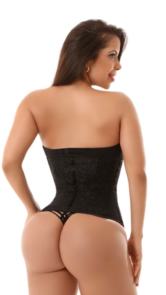 LATEX LACE WAIST TRAINER WITH ZIPPER 1981-1