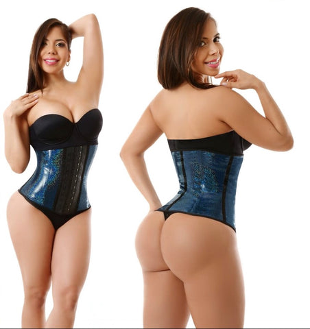CHANDA METALLIC 2 ROW LATEX WAIST TRAINER 1982-2