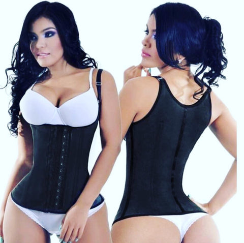 CLASSIC LATEX 2 ROW VEST THIN STRAP 1936-2