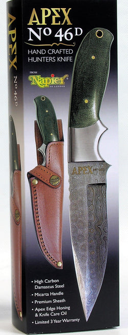 Apex 46D Hand Crafted Damascus Hunters Knife