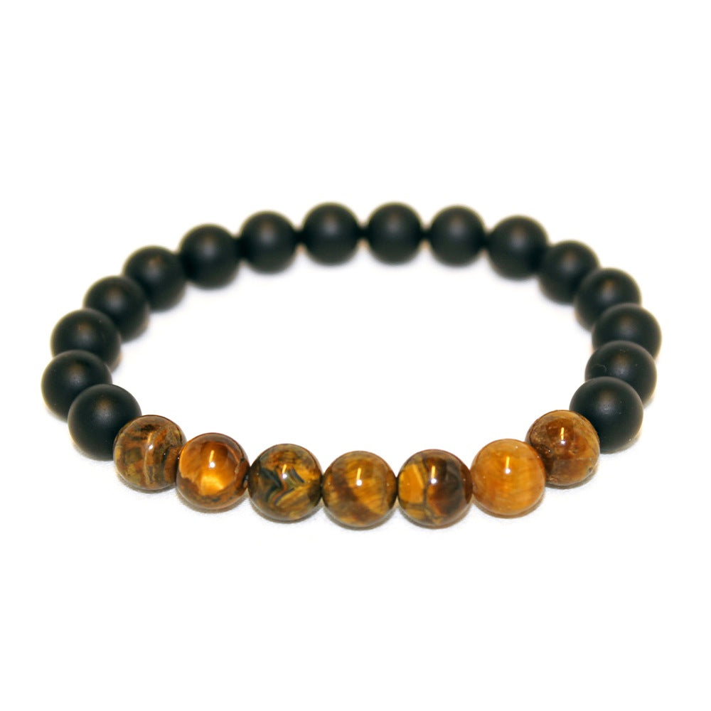 Tiger Eye x Black Onyx Bracelet