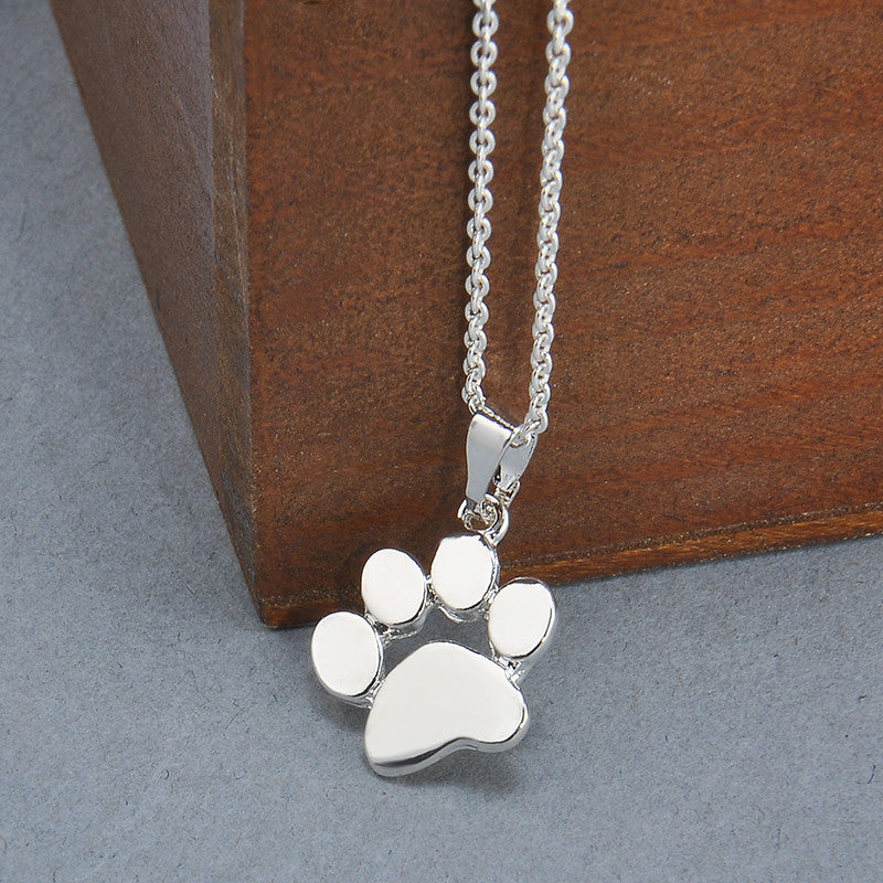 Dog pendant necklace cute paw truly wonder shop dog pendant necklace cute paw aloadofball Gallery