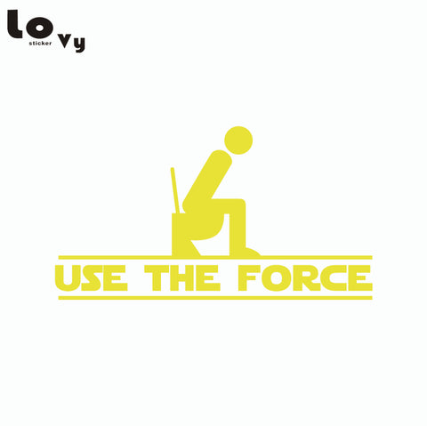 Star wars use the force vinyl wall toilet sticker