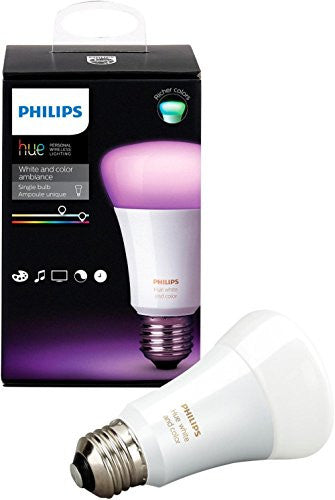 Philips 464487- Hue White and Color Ambiance A19 Smart LED Light Bulb - Multicolor, 3rd Generation