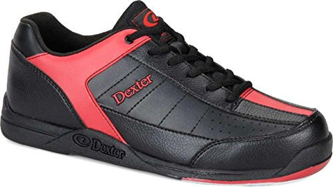 Dexter Men's Ricky III Bowling Shoes, Black/Red, 9.5