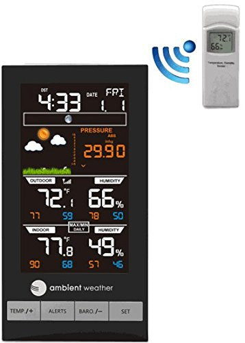 Weather WS-2800 Color Forecast Station with Temperature, Humidity & Barometer