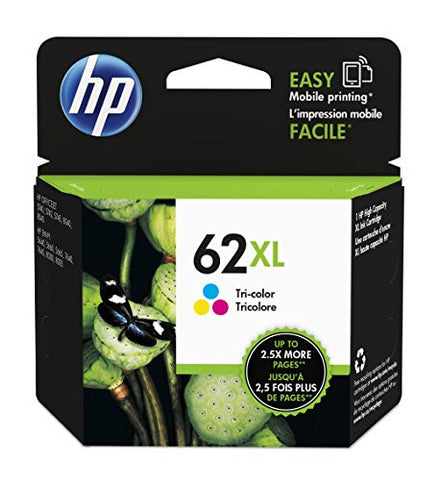 HP 62XL Tri-color High Yield Original Ink Cartridge (C2P07AN)