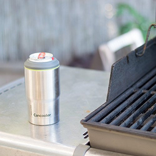 BEST Coozie Keeps Beer Ice Cold - Double Wall Vacuum Insulated Stainless Steel Colster - Fits Standard 12 oz Cans and Bottles