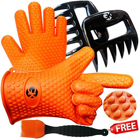 The No.1 Silicone BBQ /Cooking Gloves + The No.1 Meat Shredder + No.1 Silicone Baster PLUS eBooks w/ 344 Recipes.
