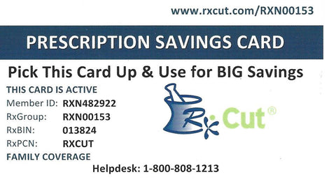 A Gift For You:  A Discount Prescription Card....and MORE. No S&H. No Cost. No Fees.