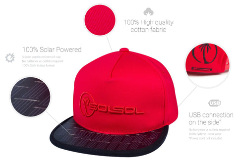 Solar Hat That Recharges Devices!!  Not a battery but an excellent solar charger