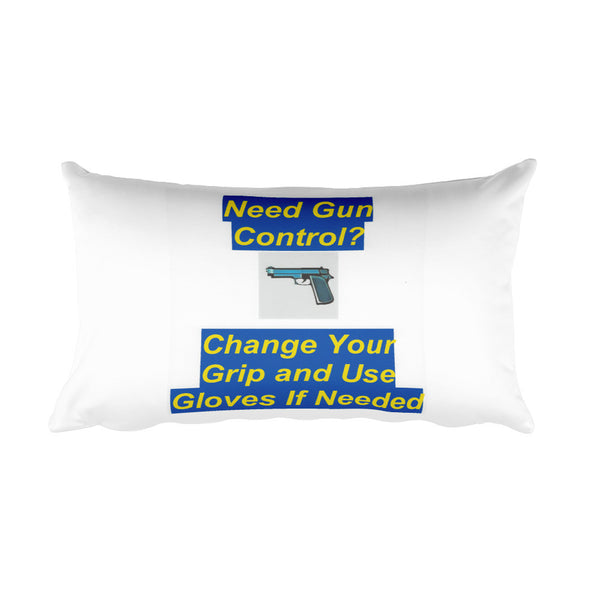 """Rest"" on the Security of the 2nd Amendment Rectangular Pillow"