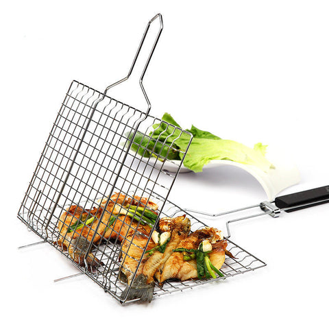 Barbecue Rack Non-stick Stainless Steel Mesh Baskets