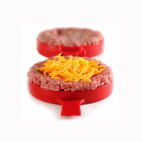 Red Cooking Tools Silicone Hamburger Press.