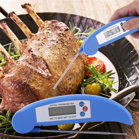 Ultra Instant Read Foldable Food Probe LCD Digital Cooking Thermometer