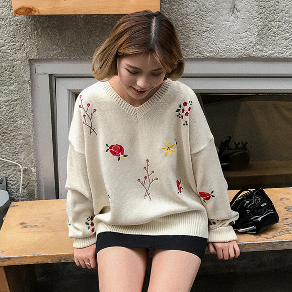 Cute Flower Sweater