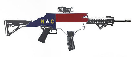 NC Rifle Sticker