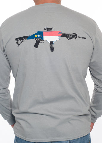 NC Rifle Long Sleeve Tee (Storm Grey)