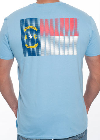 NC 5.56 Flag Tee (Light Blue)