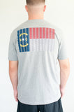 NC 5.56 Flag Tee (Heather grey)