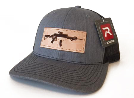 NC AR Leather Patch Hat (Heather Grey)