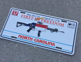 NC AR First In Freedom License Plate