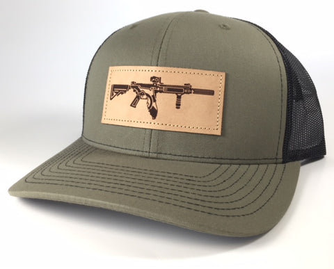 FL AR Leather Patch Hat (Olive)