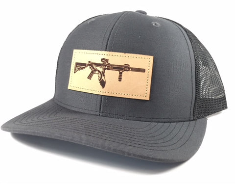 FL AR Leather Patch Hat (Charcoal/Black)