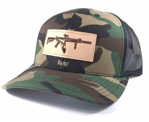 FL AR Leather Patch Hat (Camo)