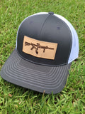 FL AR Leather Patch Hat (Charcoal/White)