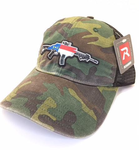 Unstructured Mesh NC AR Hat (Camo/Black)